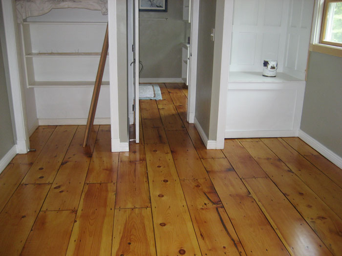 Refinished Pine Flooring