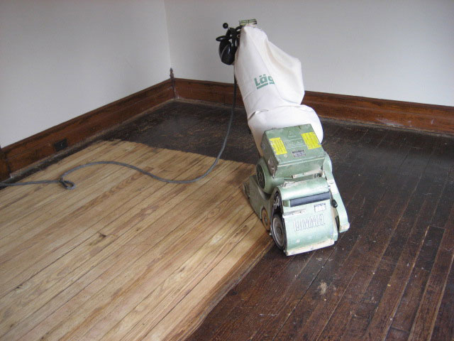 Sanding and Refinishing Old Hardwood Floor - Hardwood Mechanic - Hardwood Floor Sanding, Repair, Installation