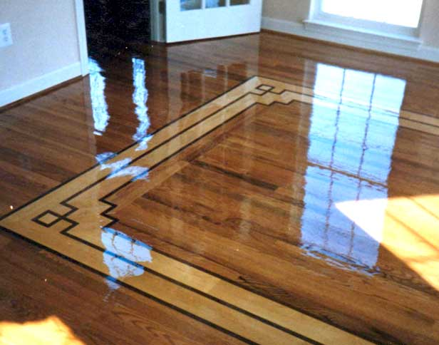 Hardwood Floor Inlays wood floor borders hardwood floor inlay flooring contractor talk Hardwood Floor Refinished With Simple Border
